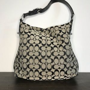 Coach black and grey shoulder bag